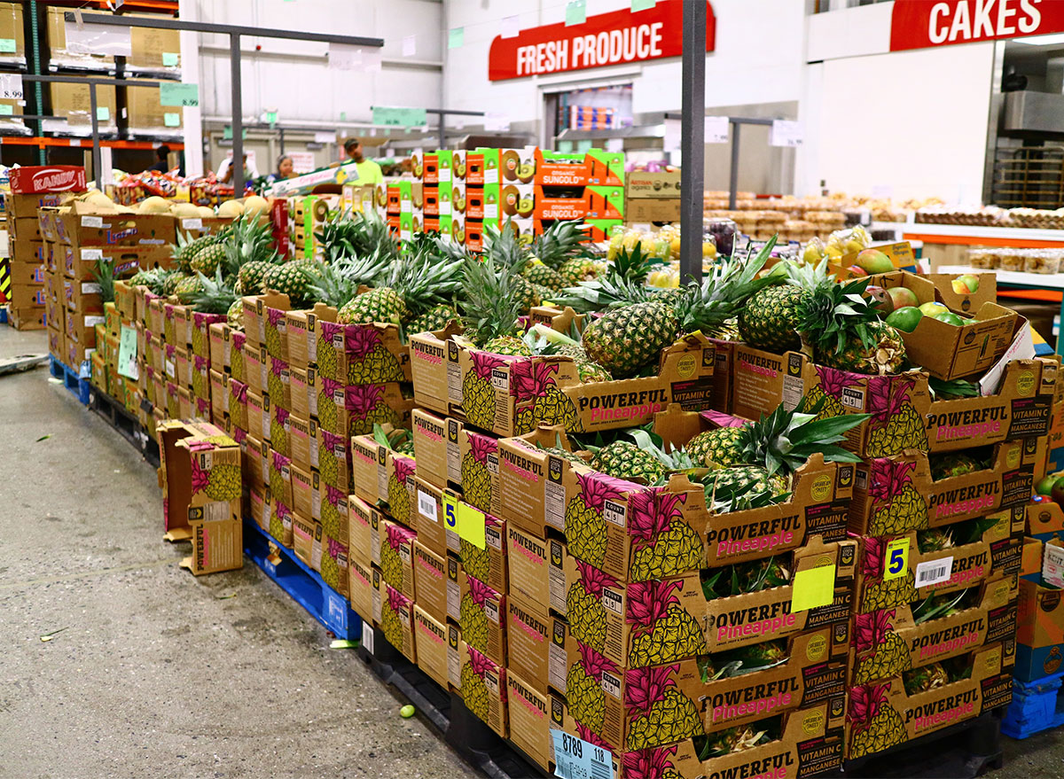 pineapples in costco produce section