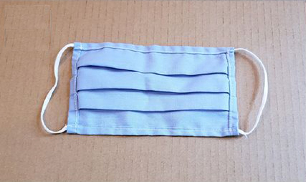 1-layer cotton, pleated style mask