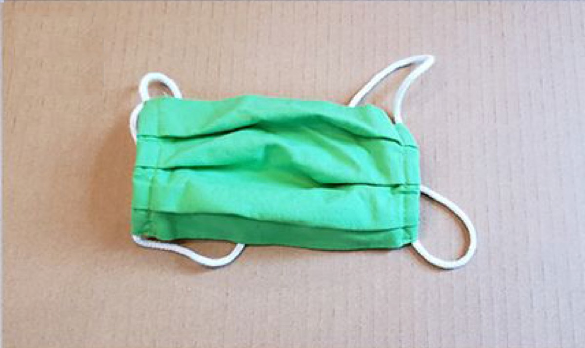 2-layer cotton, pleated style mask