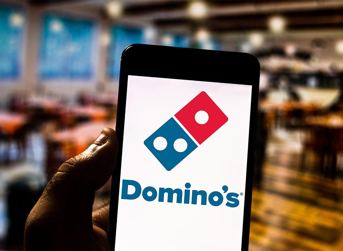dominos app on phone