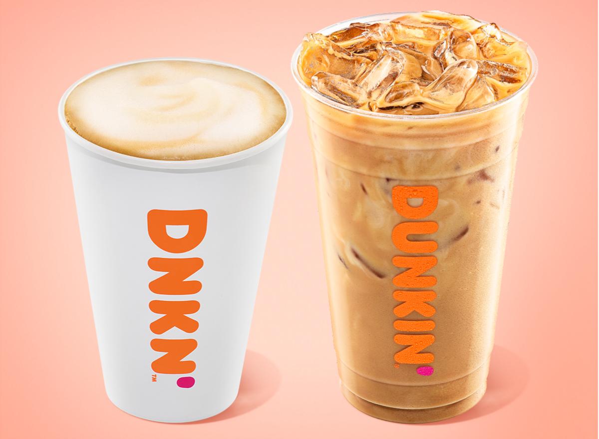 dunkin oatmilk lattes