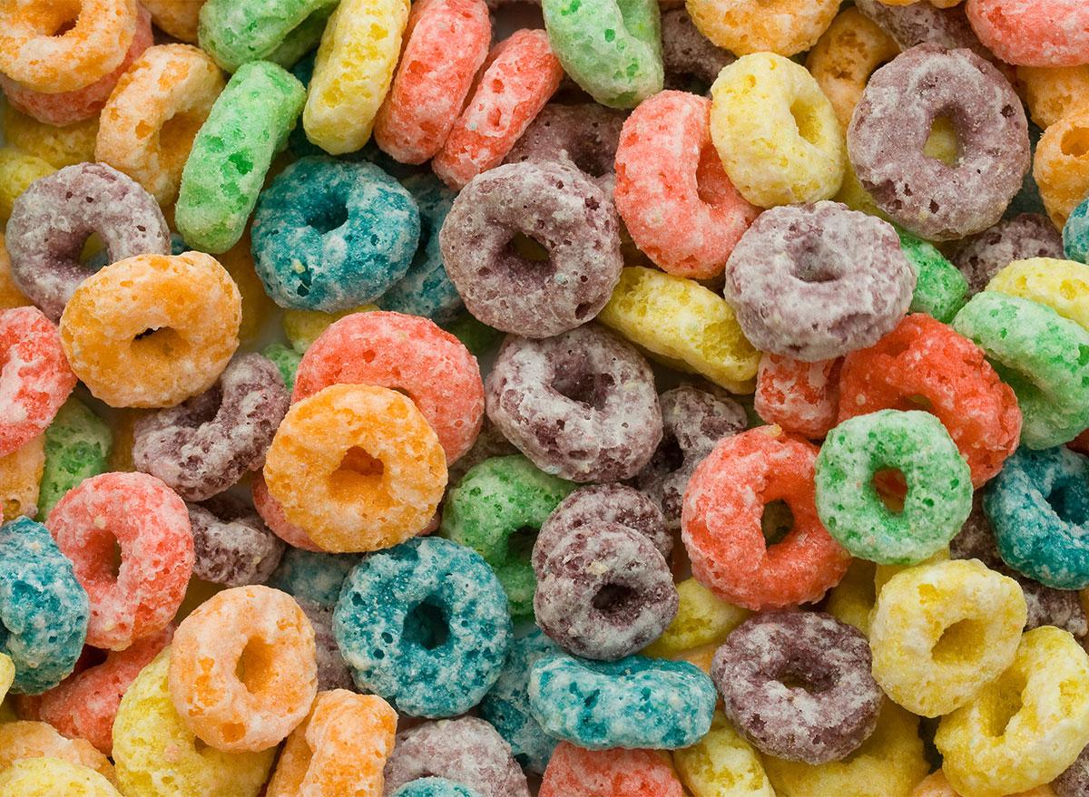 froot loops cereal closeup