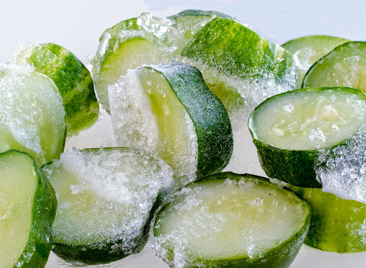 frozen cucumber
