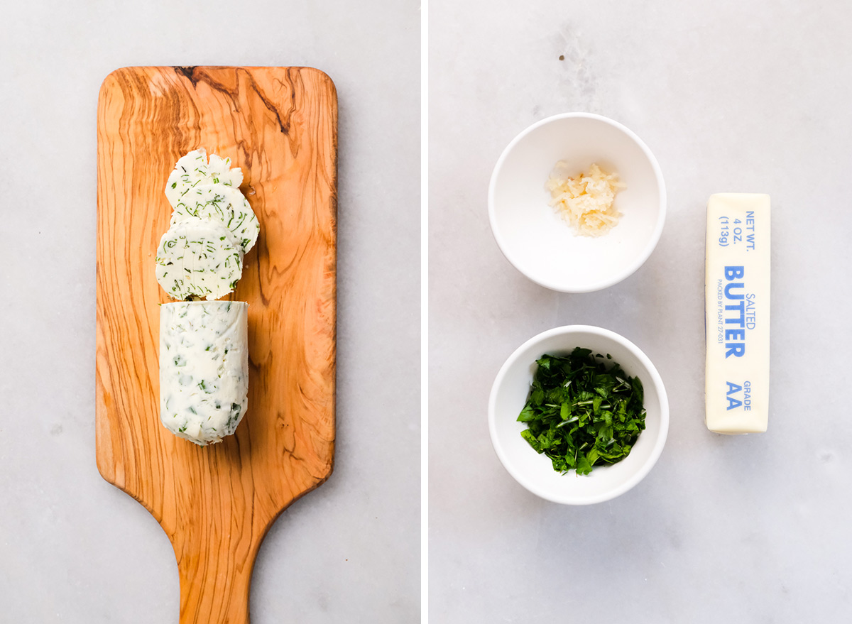 garlic and herb butter with ingredients