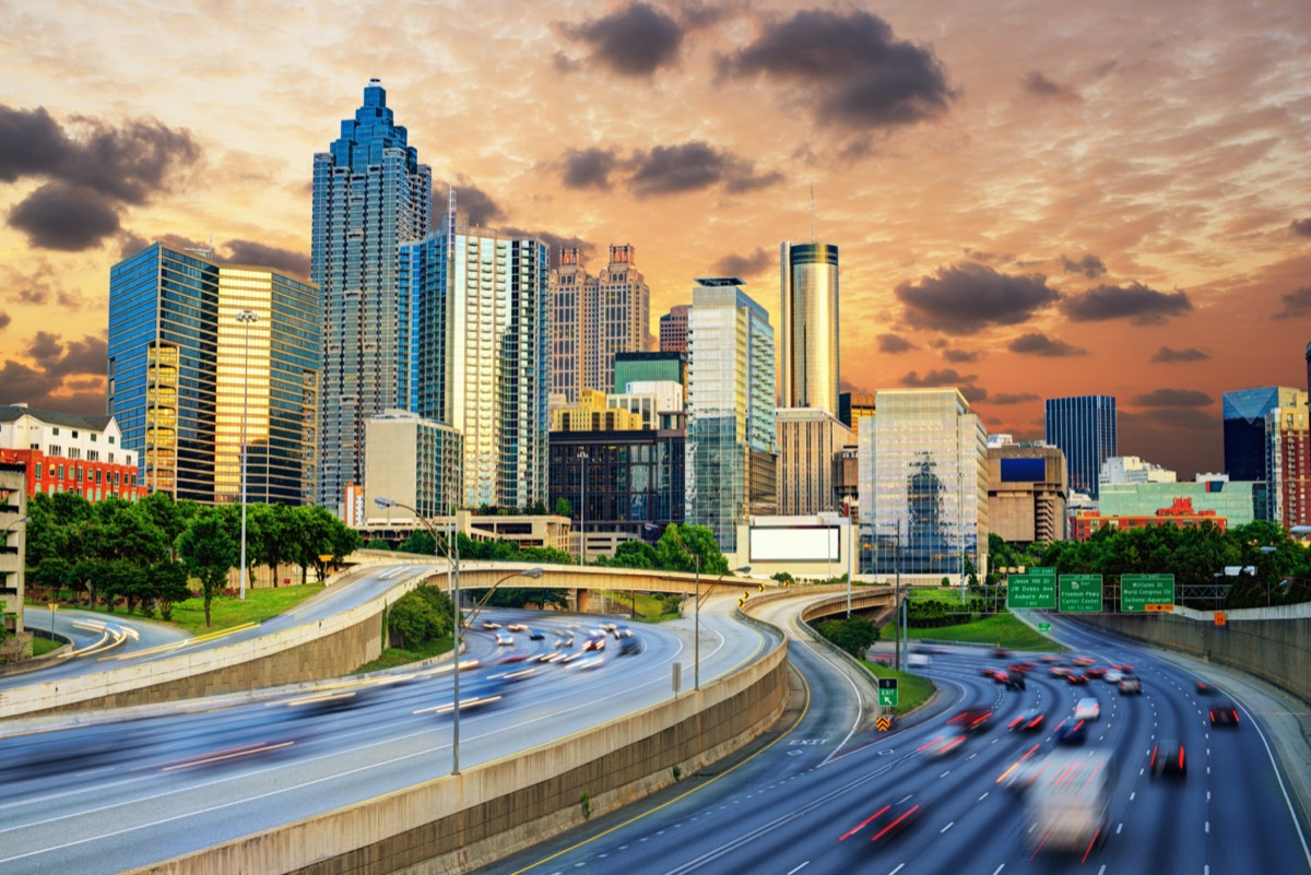 Downtowntown Atlanta, Georgia Skyline.