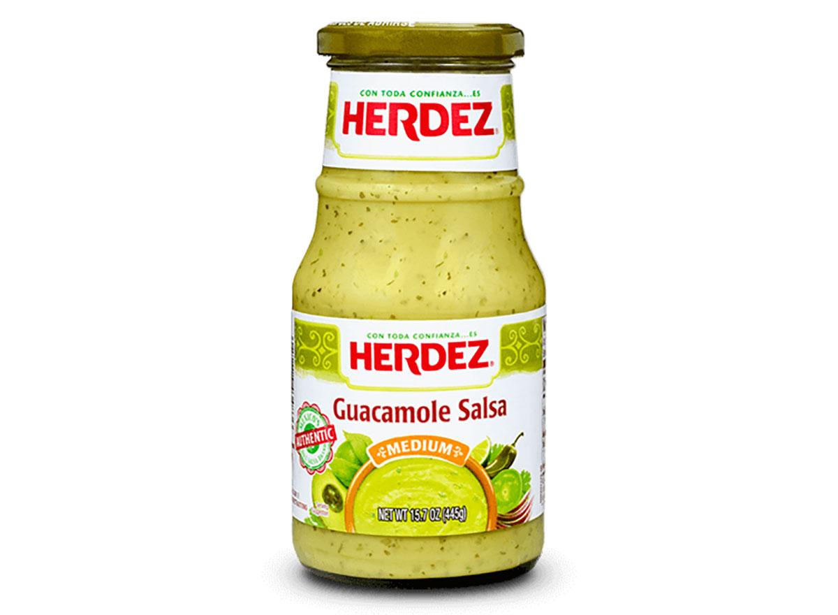 herdez guacamole salsa bottle