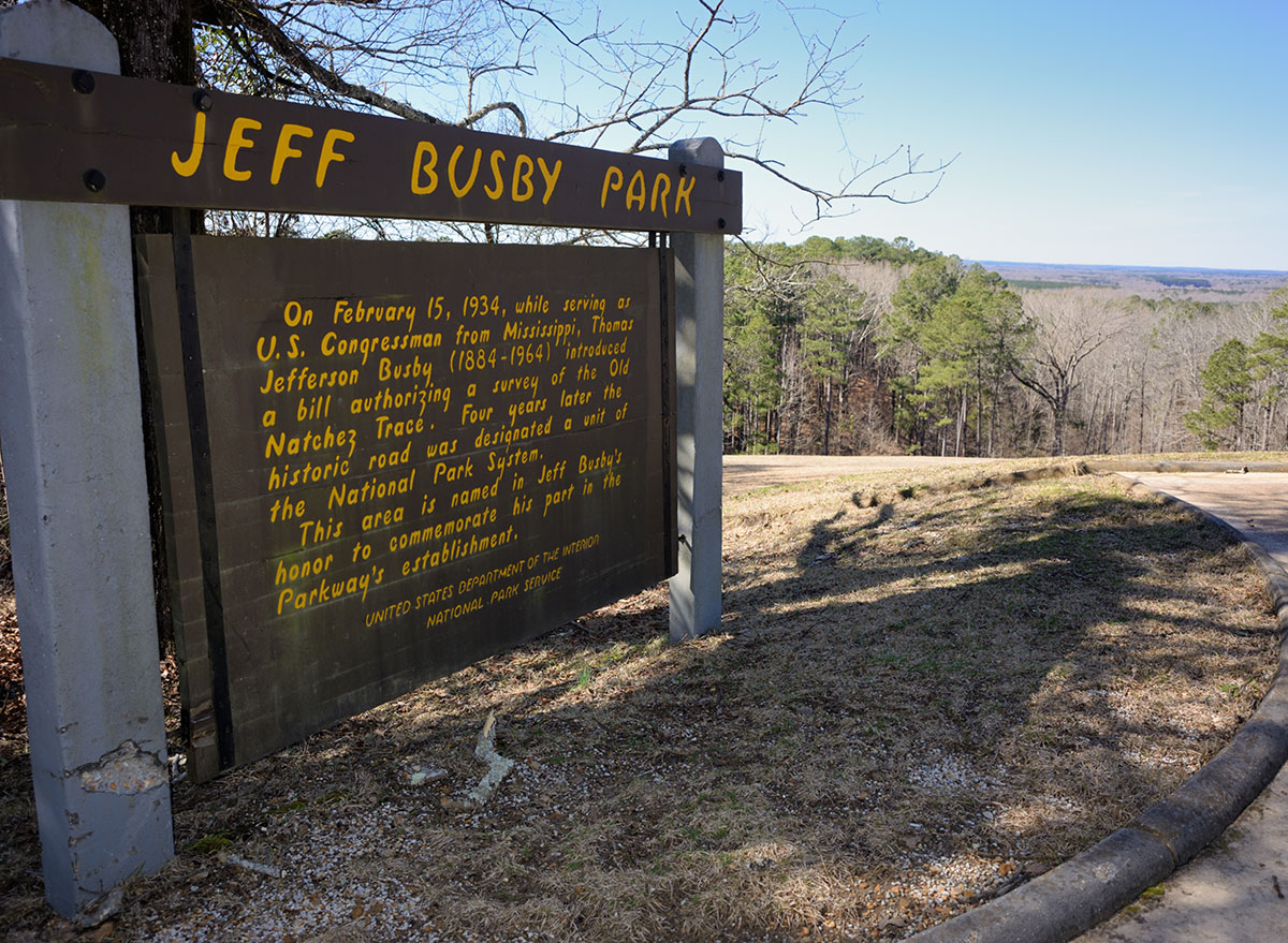 jeff busby park in mississippi