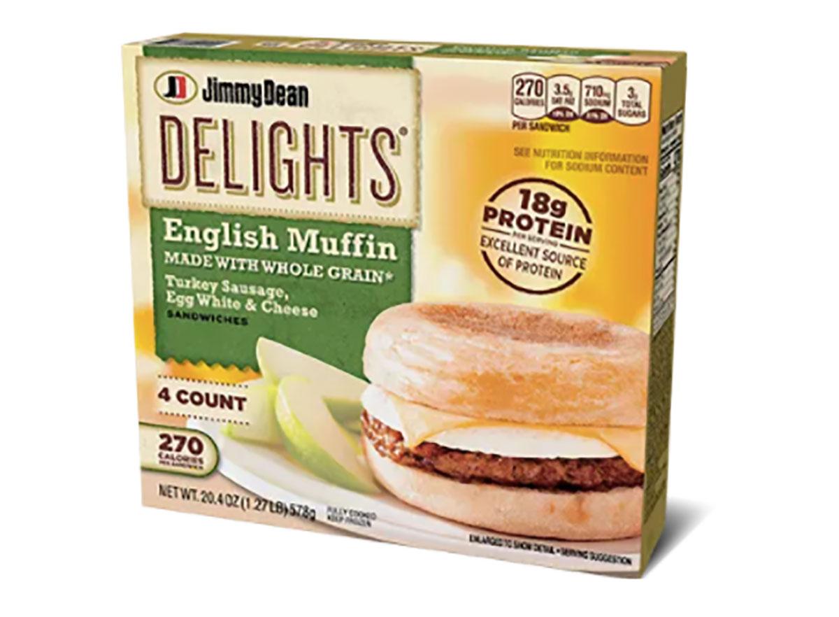 jimmy dean delights english muffin frozen box