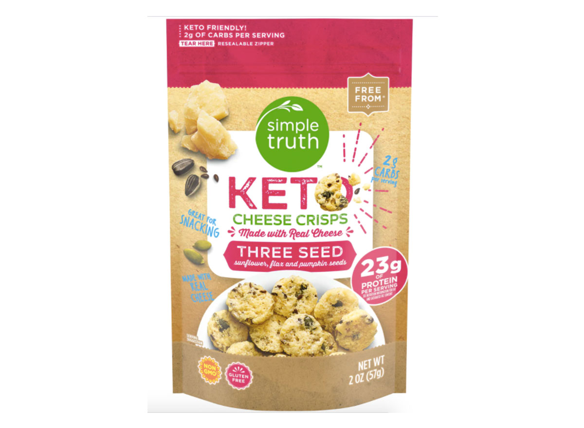bag of kroger simple truth cheese crisps
