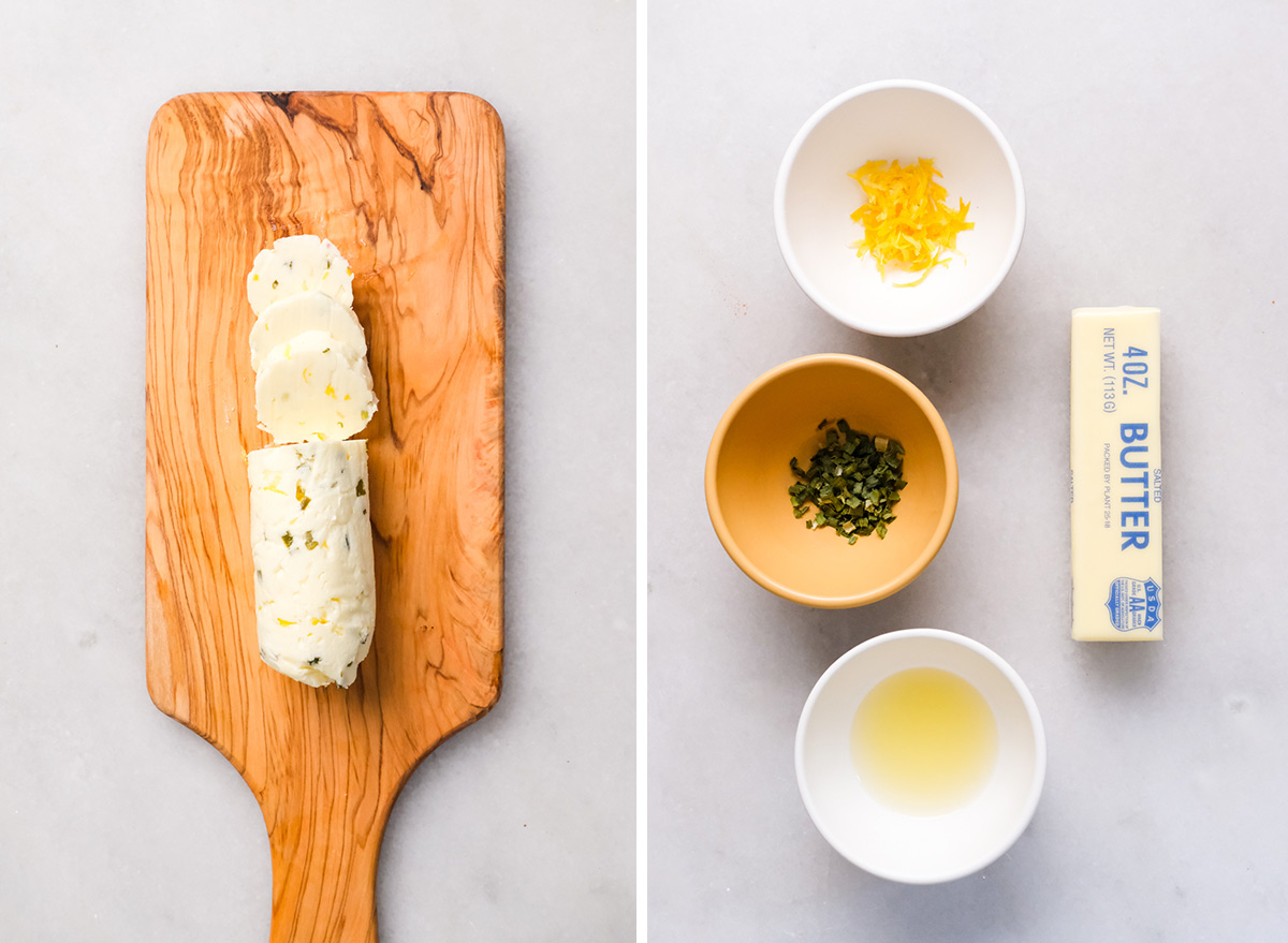 lemon and chive butter with ingredients