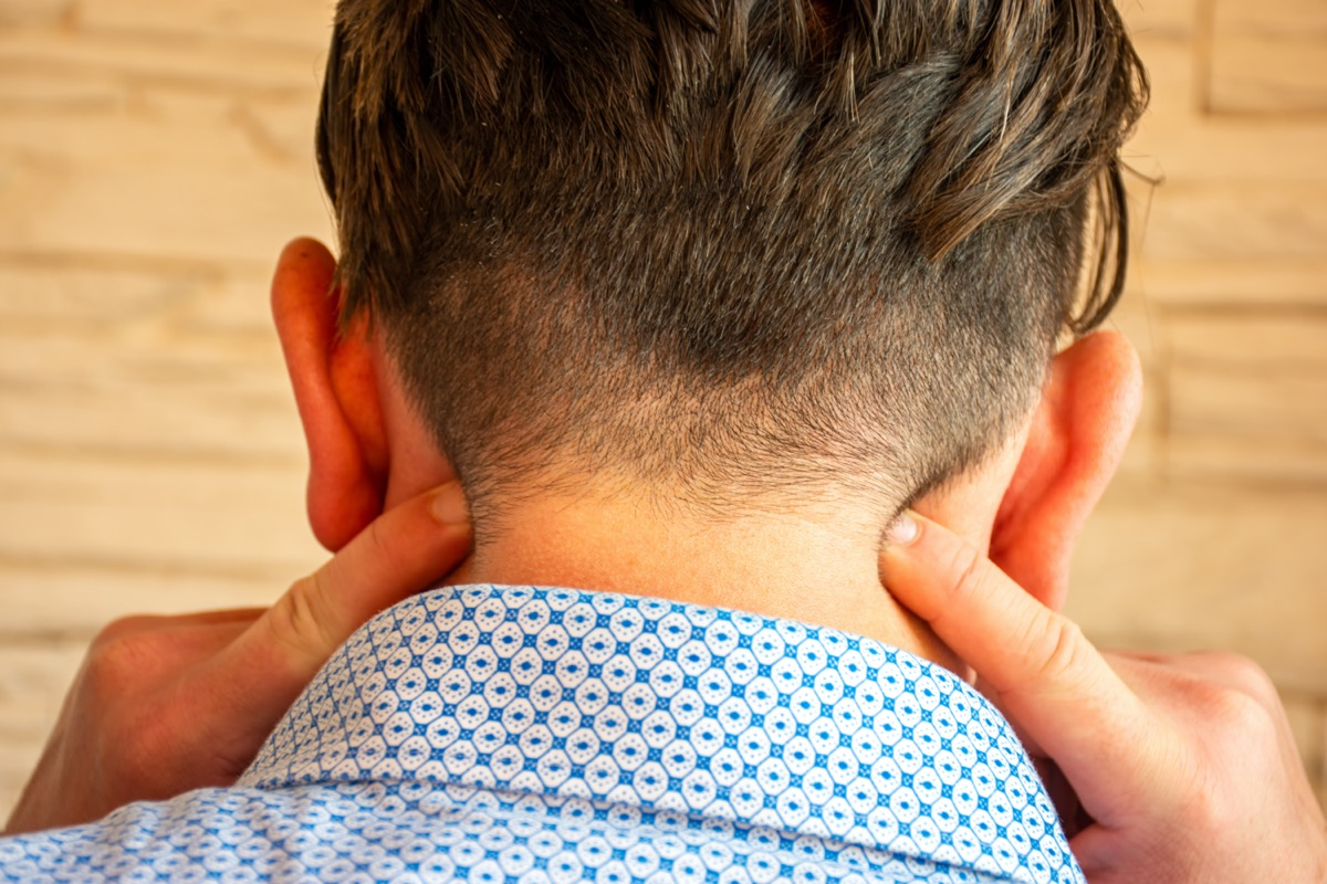 pain in the neck or cervical part spine