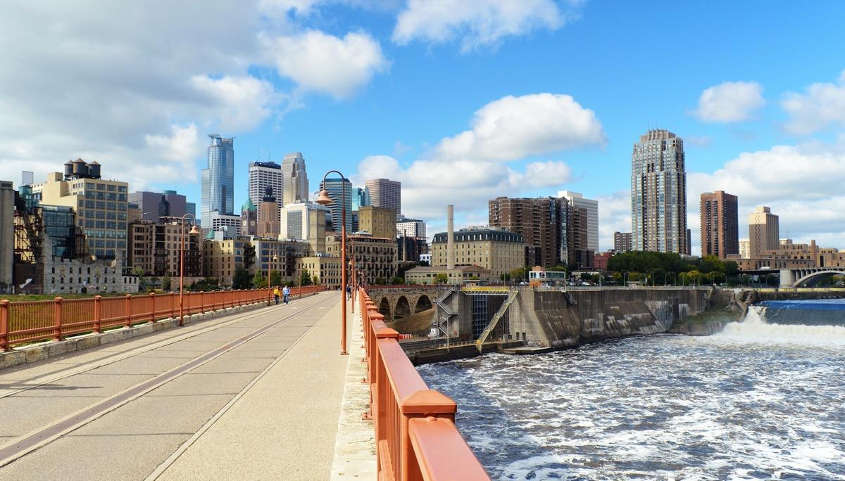 Downtown of Minneapolis.Minnesota