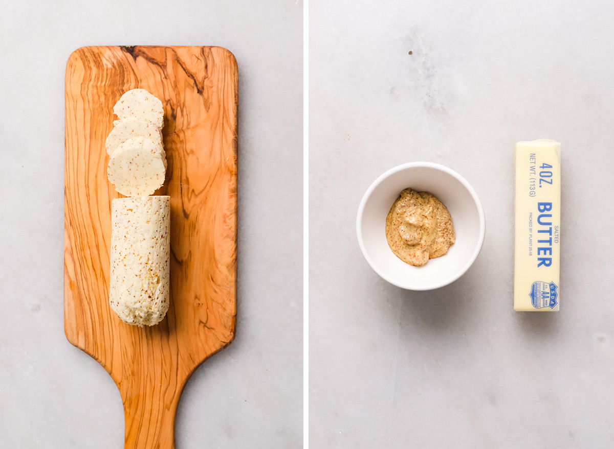 mustard butter with ingredients