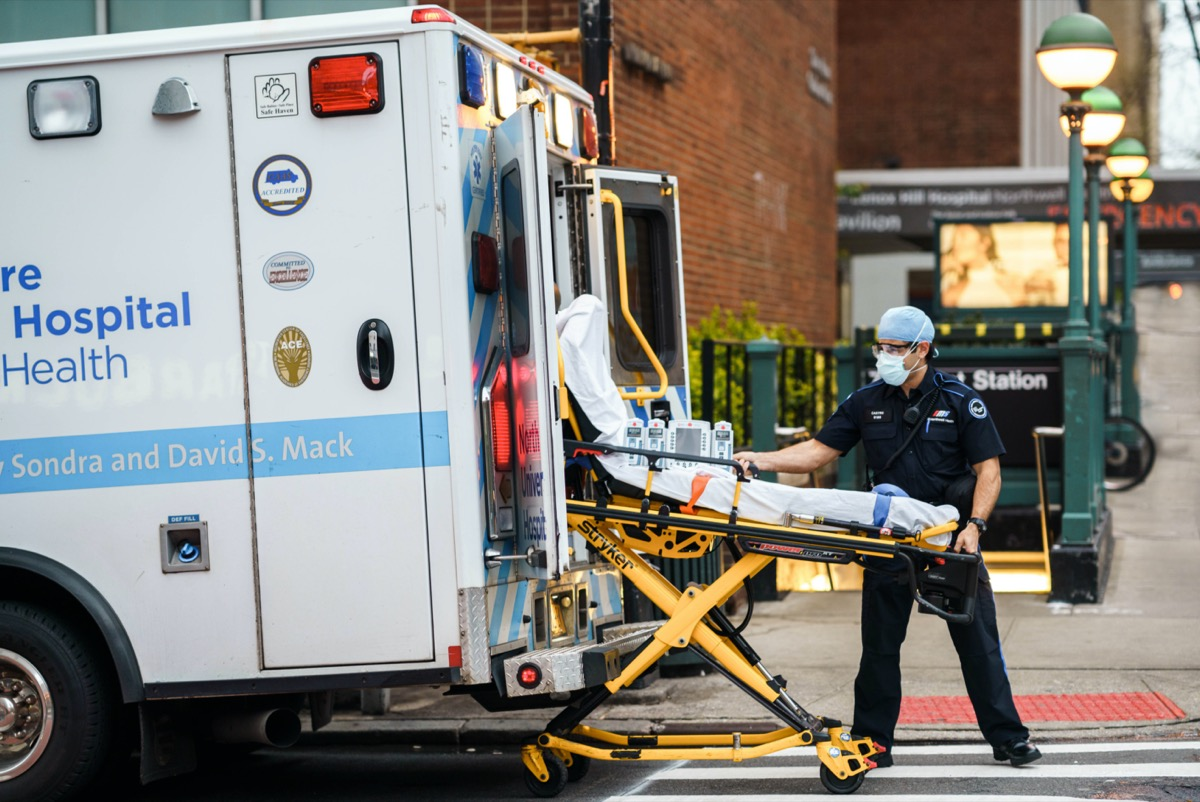 New York City healthcare workers during coronavirus outbreak in America.