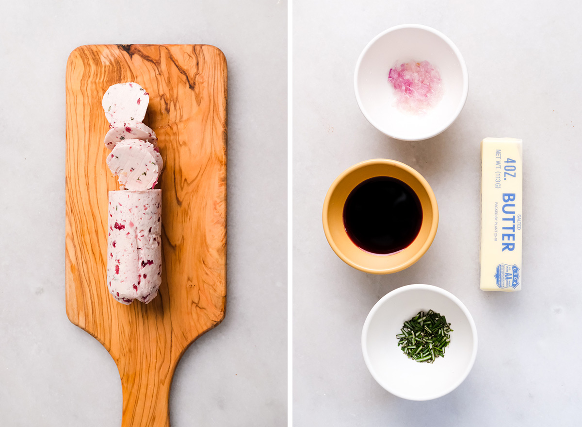 red wine butter with ingredients