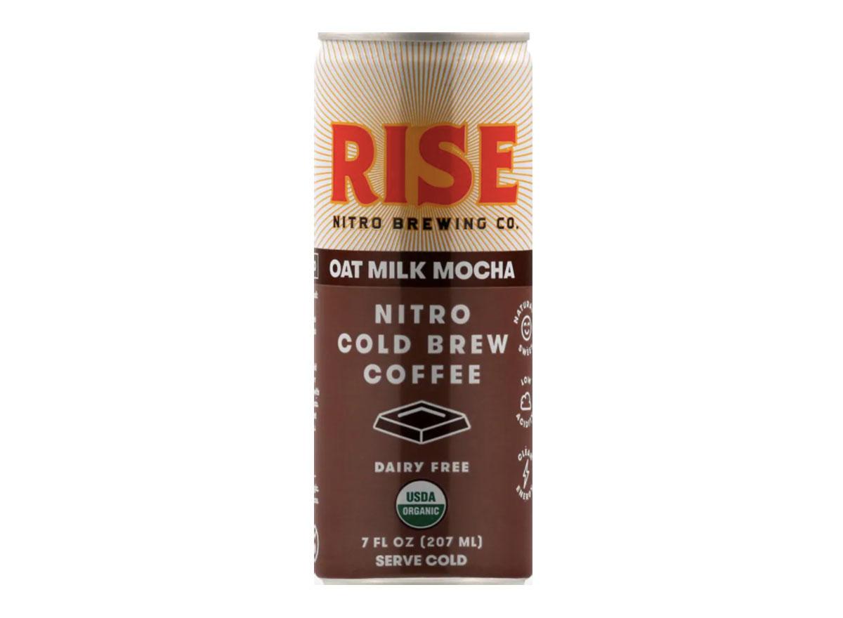 rise oat milk mocha cold brew can