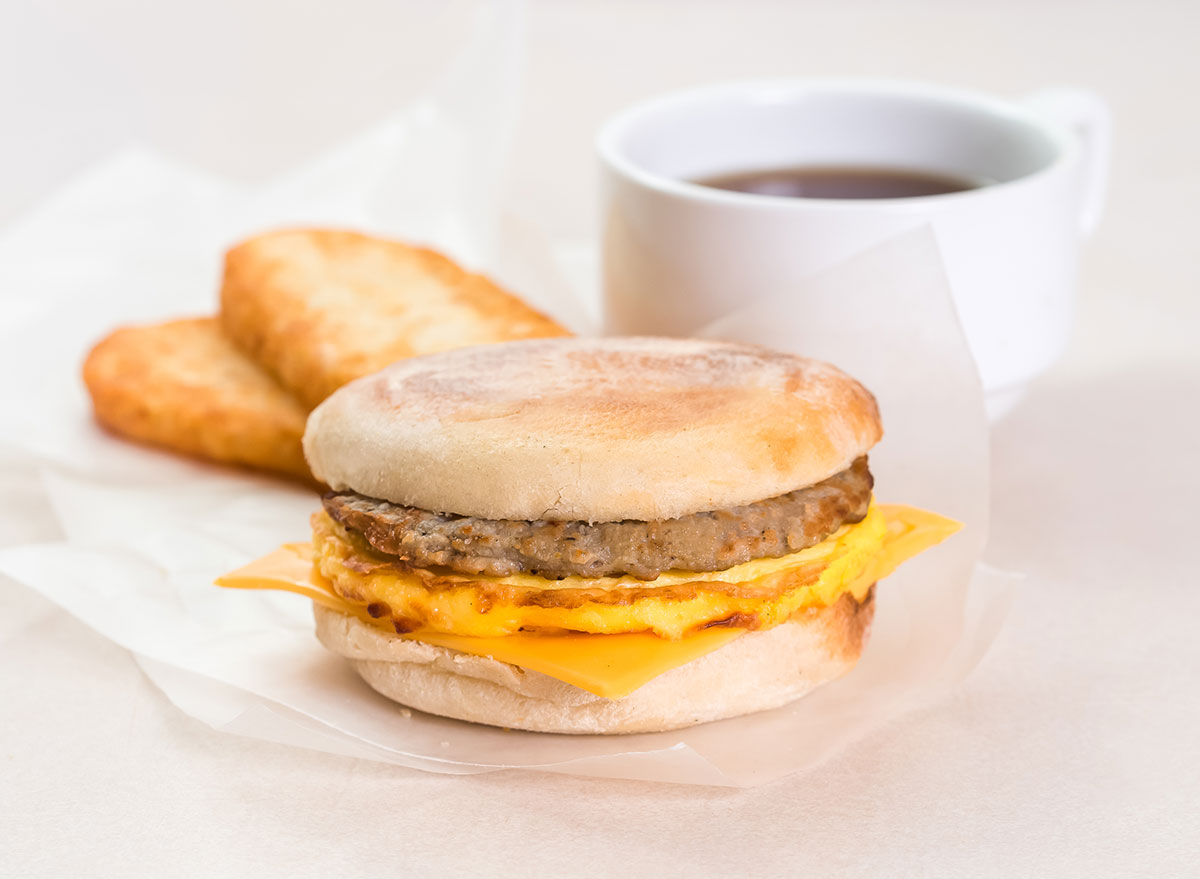 sausage breakfast sandwich