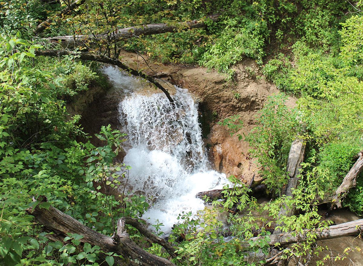 waterfall at smith falls state park nebraska