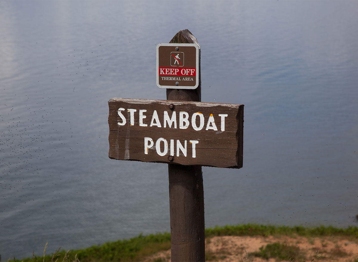 sign for steamboat point wyoming