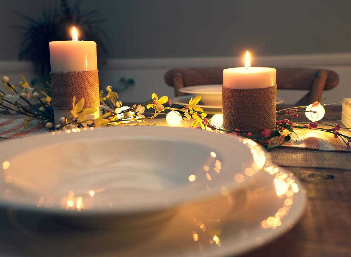 summer dinner table