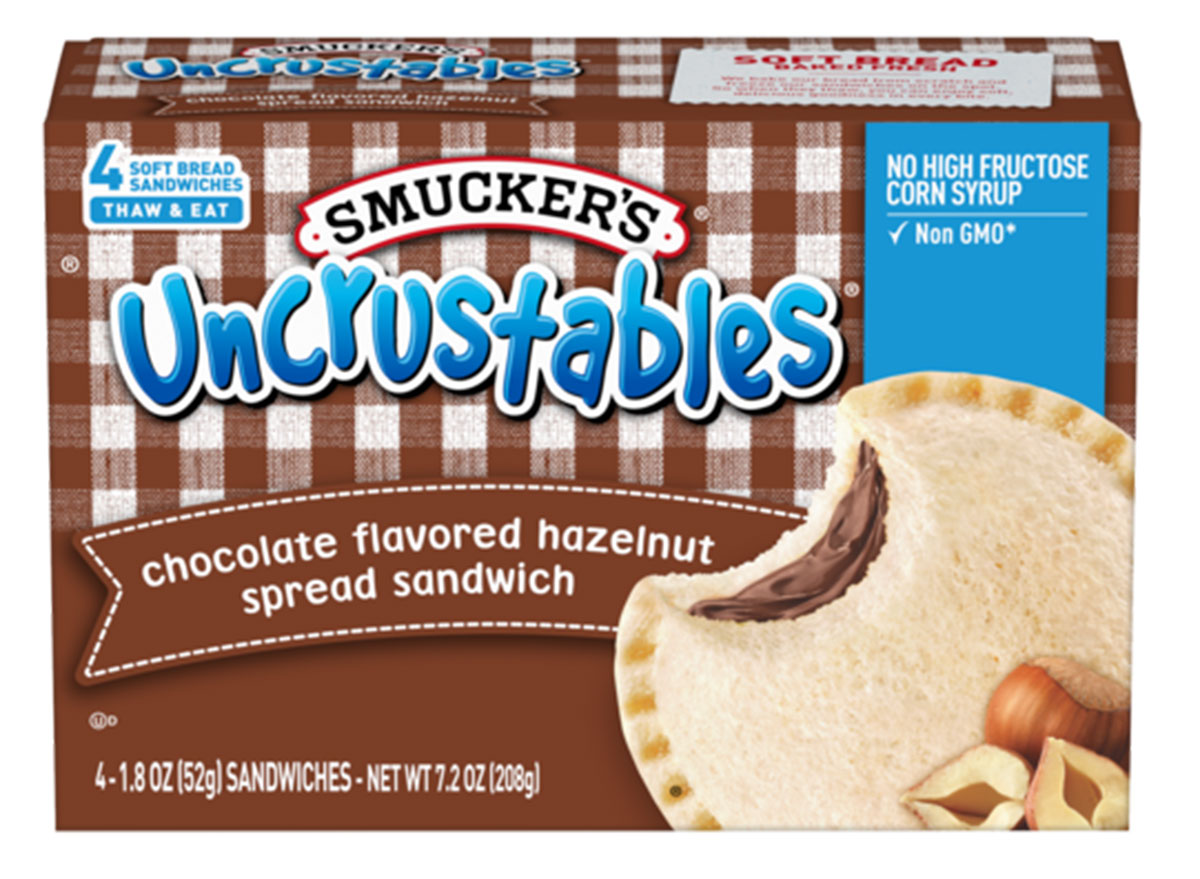 uncrustables chocolate hazelnut spread