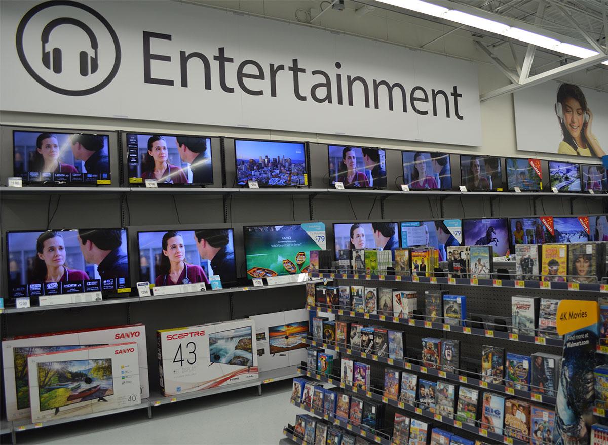 walmart entertainment section