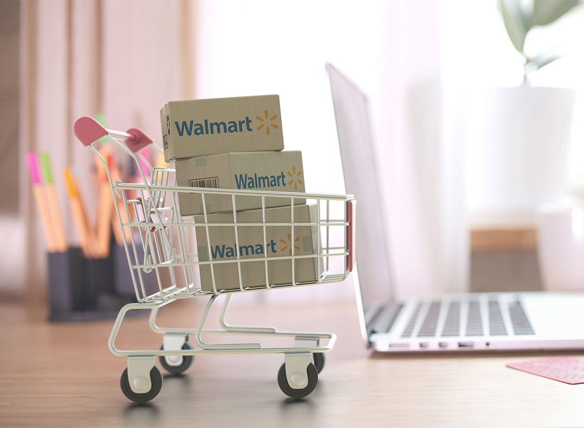 walmart online shopping laptop with boxes