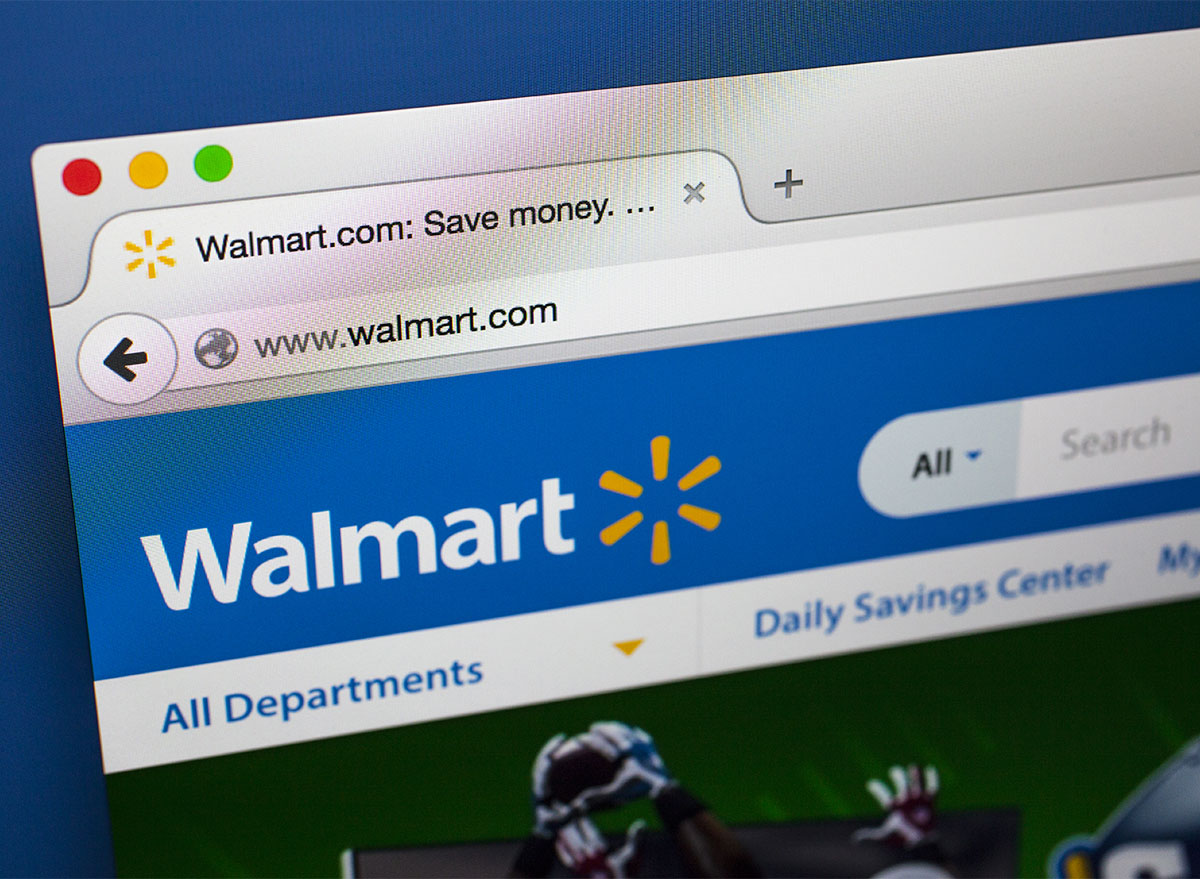 laptop browser tab with walmart website