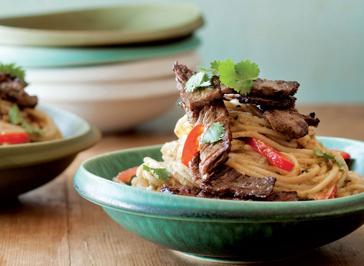 chinese noodles with beef