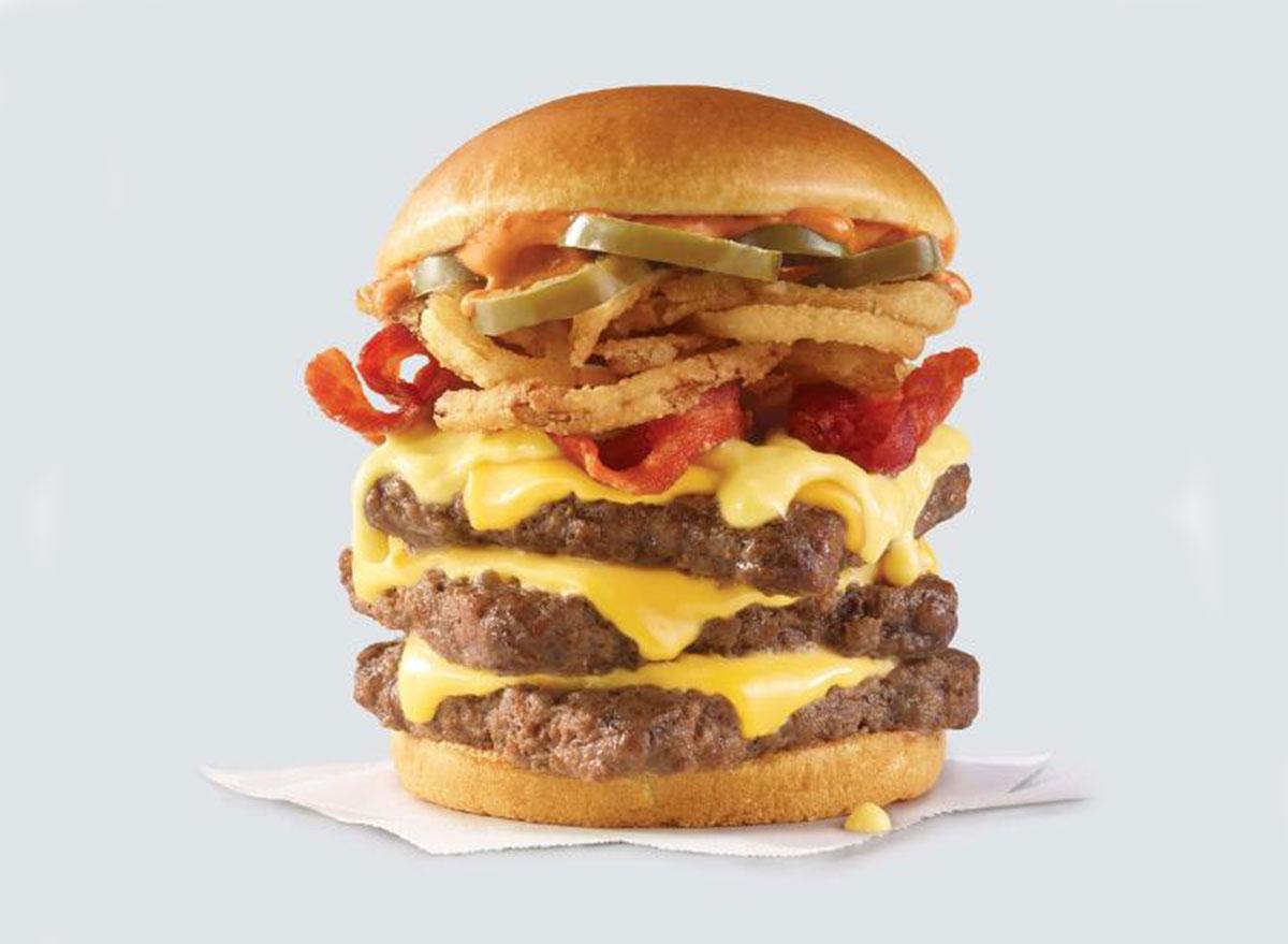 wendys triple cheeseburger