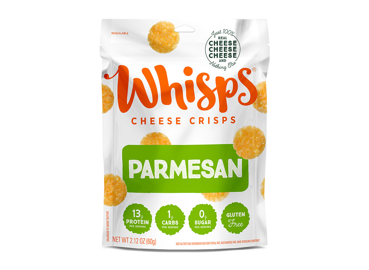 bag of whisps parmesan cheese crisps