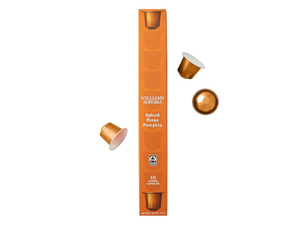 williams sonoma pecan pumpkin coffee capsules