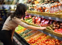 woman fruit shopping