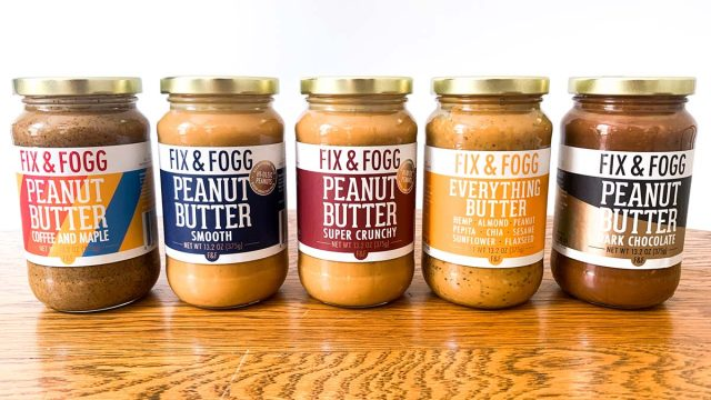 fixx & fogg peanut butter jars