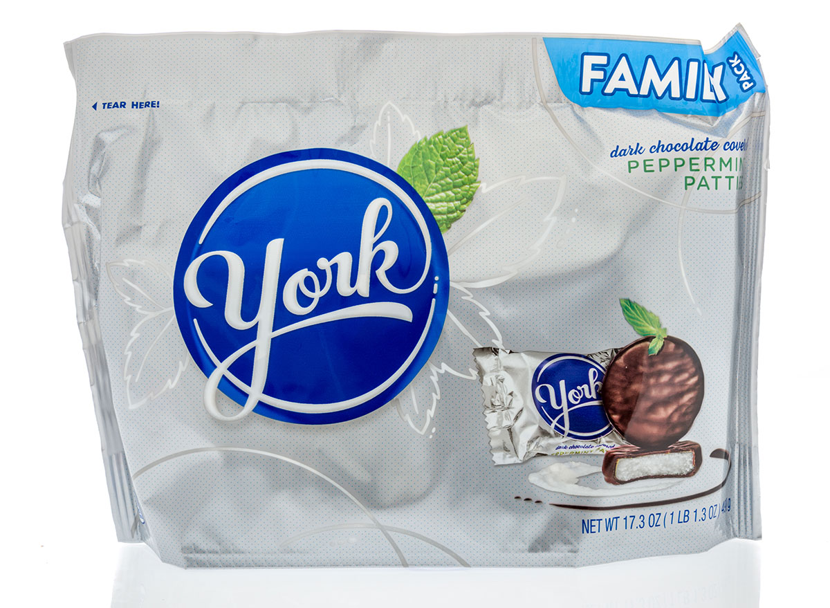 family size bag of york peppermint patties