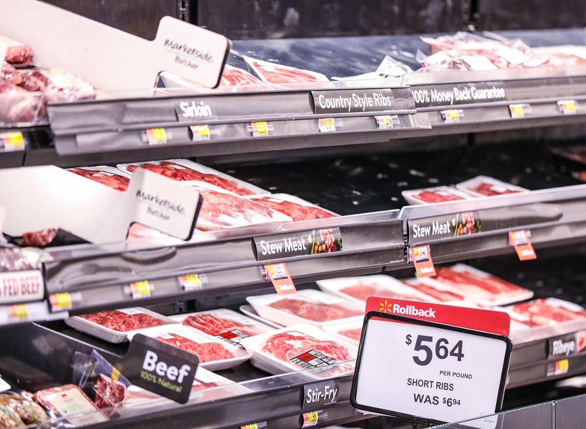 Walmart meat