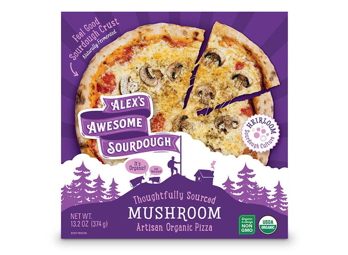 alexs awesome sourdough mushroom pizza