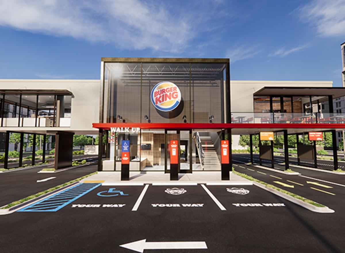 burger king parking lot