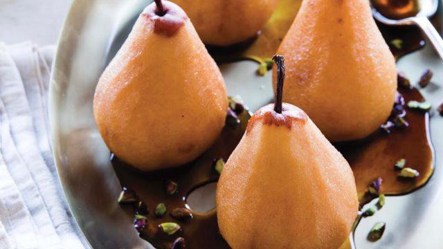 chai spiced pears