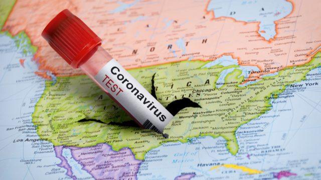 Covid america map