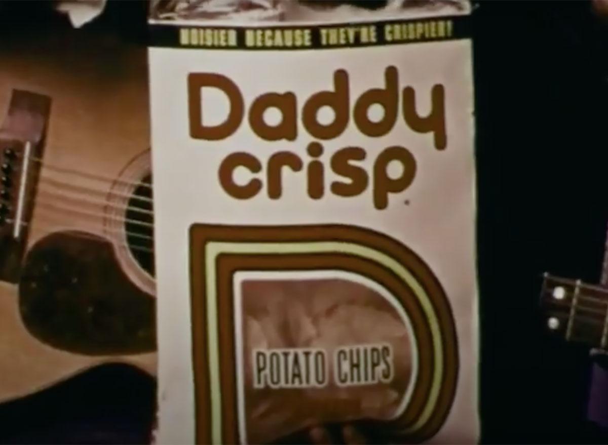 daddy crisp potato chips still from commercial