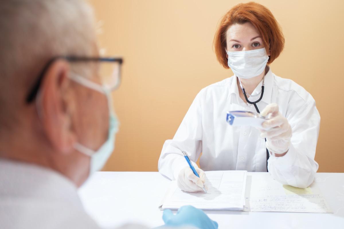 Doctors in medical masks and gloves