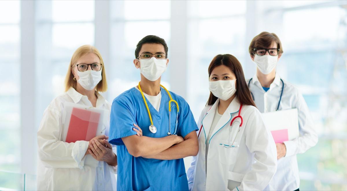 International doctor team.