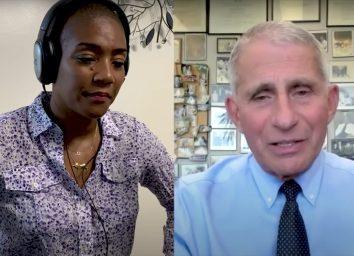 Dr Anthony Fauci and Tiffany Haddish
