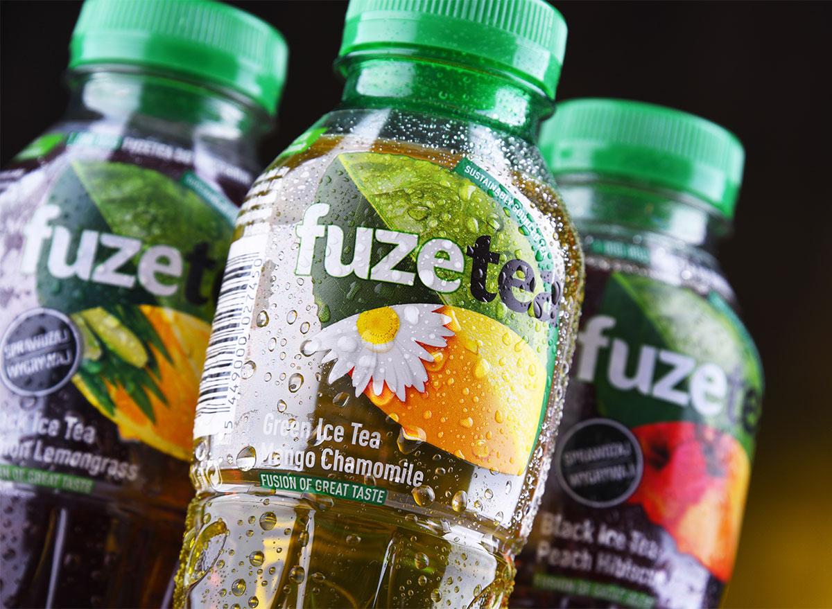 bottles of fuze iced tea