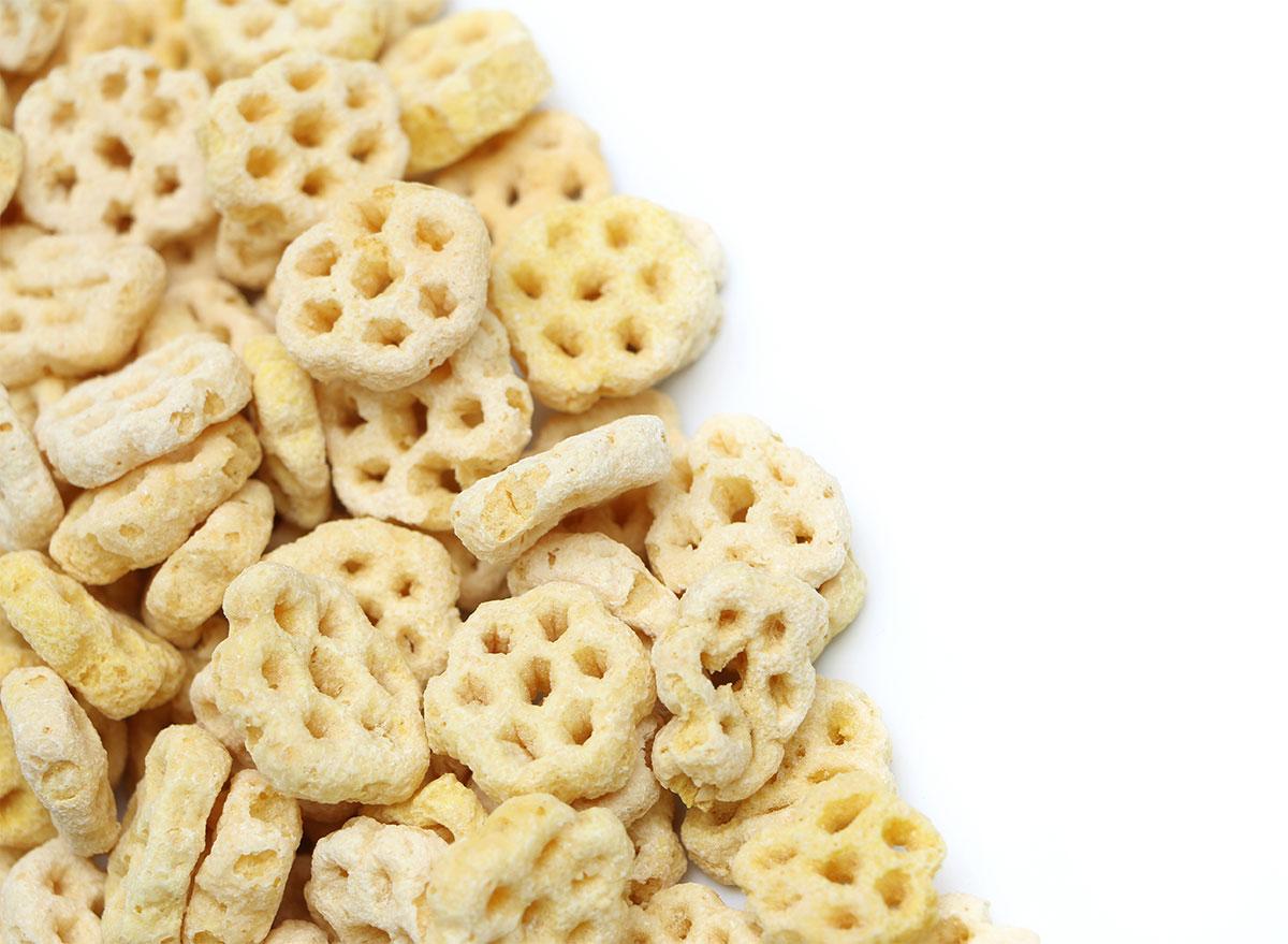 honeycomb cereal closeup