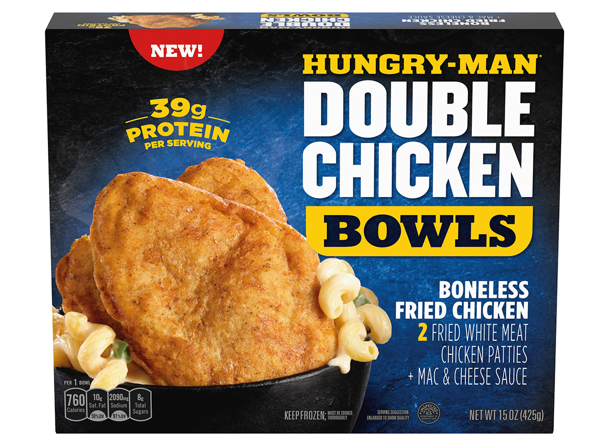 hungry man double chicken