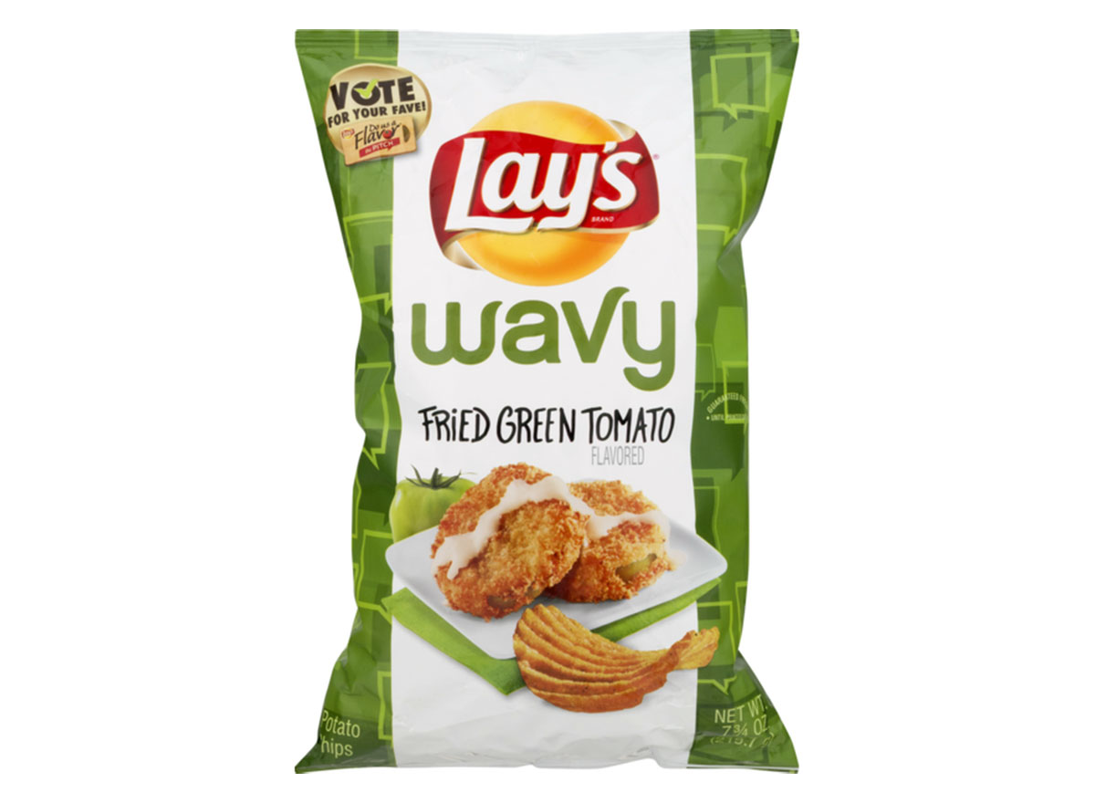 wavy lays fried green tomato chips