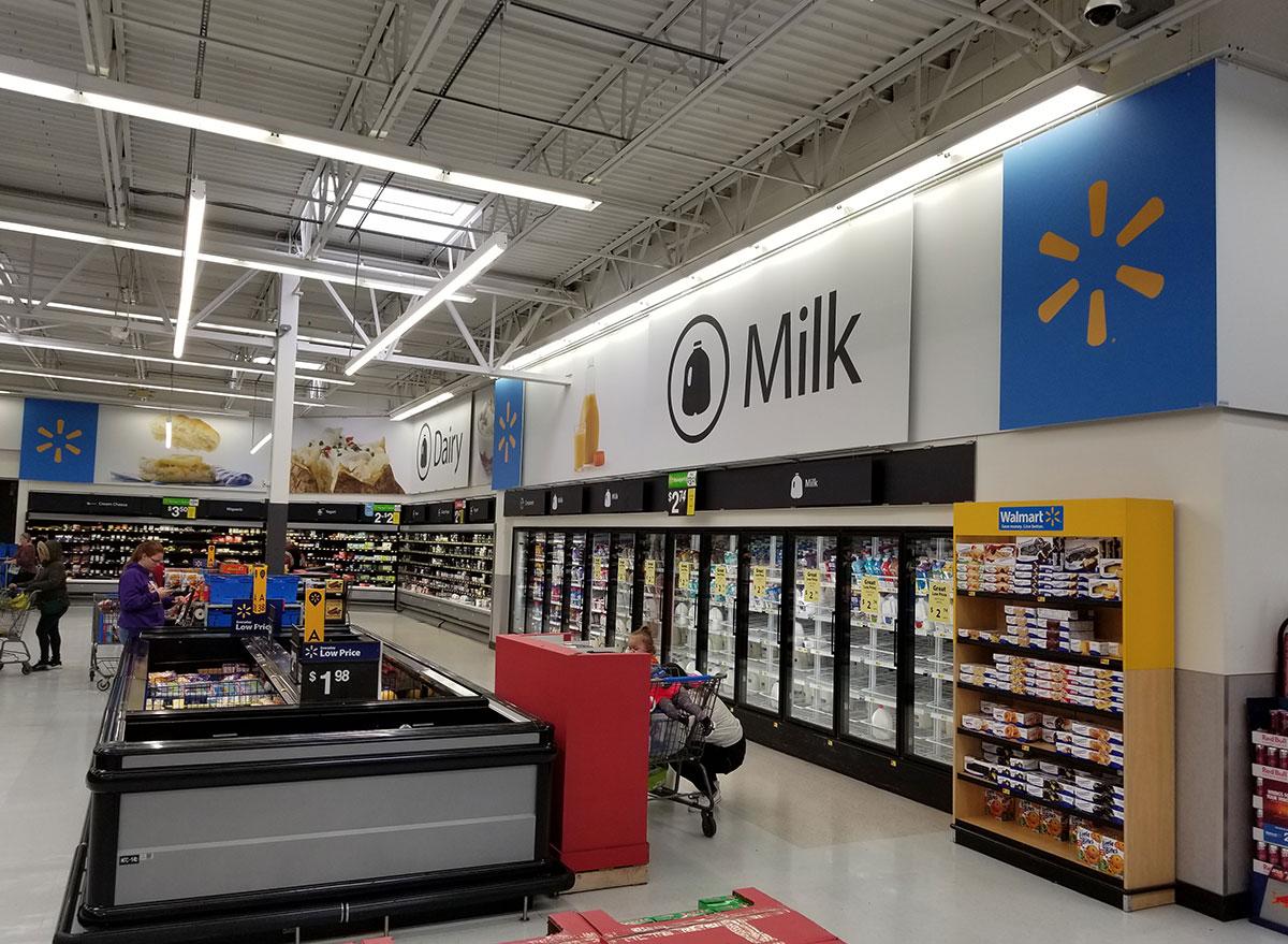 milk section walmart