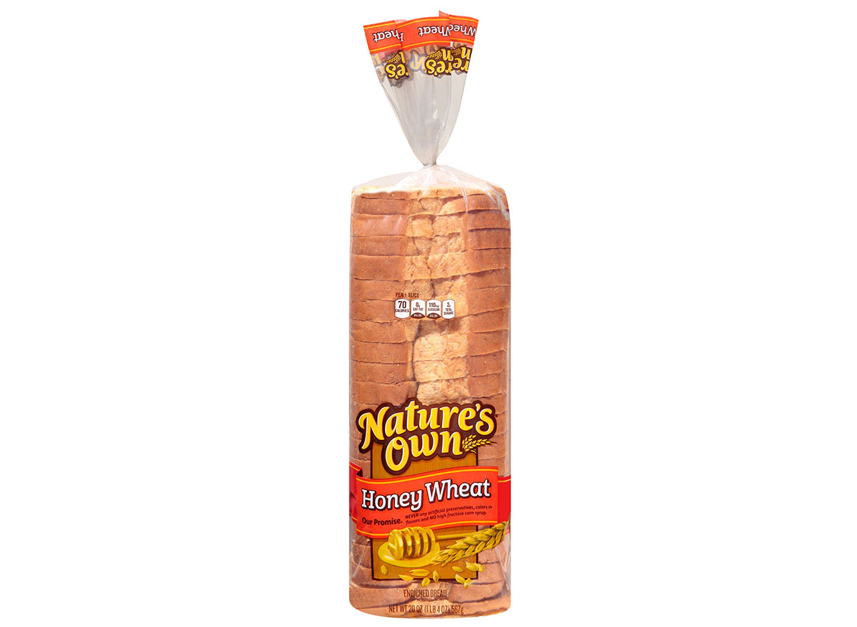 natures own honey wheat bread